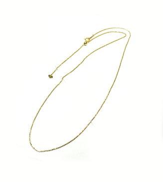 金種が選べるK18ゴールド カットボール ロングチェーン ネックレス 約60cm 径1.2mm A007-1207