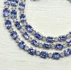 タンザナイト×ダイヤモンド K18ホワイトゴールド テニス ネックレス A071-1412