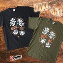 送料無料 Tシャツ 登山靴デザイン 厚手 CAMP 半袖 メンズ レディース