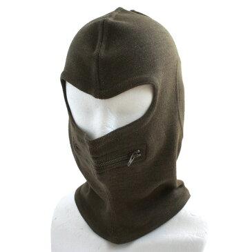 イタリア軍放出 バラクラバ目出し帽 ウール HC049NN ブラウン 【 デットストック 】 【 未使用 】
