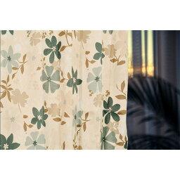 柄が選べる 花柄 遮光カーテン / 2枚組 100×178cm グリーン / 洗える 形状記憶 『アーロン』 九装 送料込!