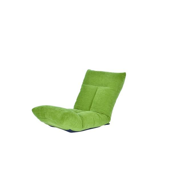 日本製 足上げ リクライニング リラックス 座椅子 リヨン グリーン 送料無料!