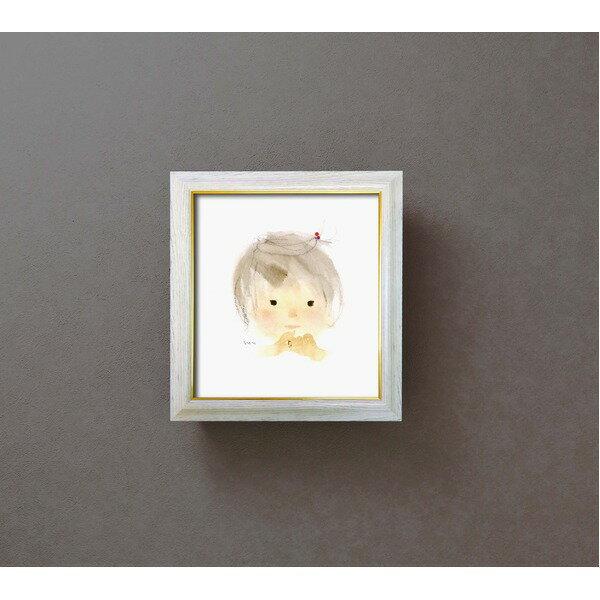 產品詳細資料,日本Yahoo代標|日本代購|日本批發-ibuy99|興趣、愛好|藝術品、古董、民間工藝品|色紙額縁セット/フレーム 【295mm×324mm×21mm】 いわさきちひろ 「ゆびわの少女」 …