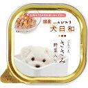 (まとめ)犬日和トレイ ささみ 野菜入り 100g(ペット用品・犬用フード)【×24セット】 送料込!