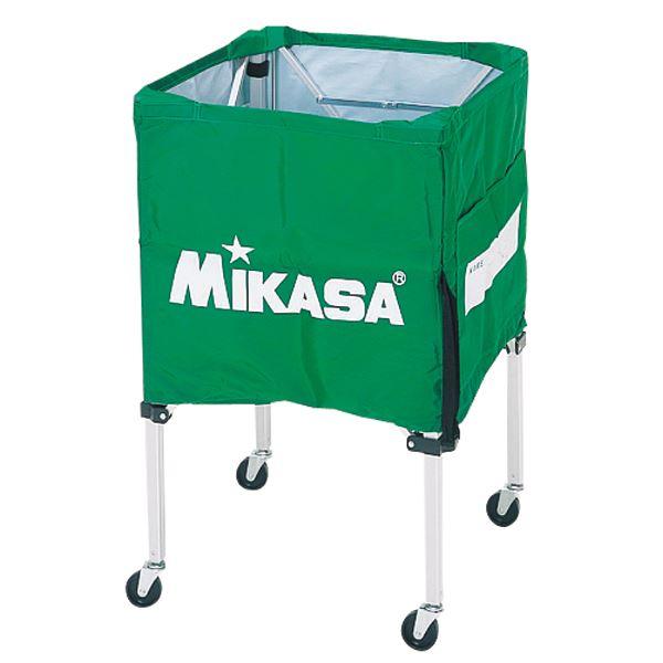 MIKASA(ミカサ)器具 ボールカゴ 箱型・小(フレーム・幕体・キャリーケース3点セット) ライトグリーン 【BCSPSS】 送料込!