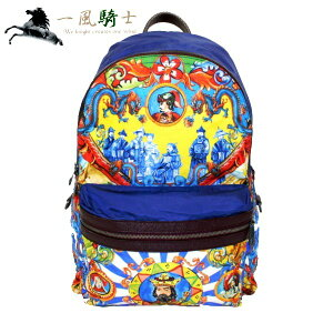 [A large number of SALE items are on display] [Start on 10:00 on July 1] 354415 [Used] [DOLCE&GABBANA] [Dolce&Gabbana] Backpack Majolica Total pattern Nylon multicolor