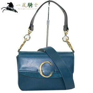 [A large number of SALE products are on display] [Start on 10:00 on July 1] 357001 [As good as new] [CHLOE] [Chloe] C Small double carry bag 2WAY bag Leather blue CHC19SS191
