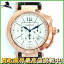 128557【送料無料】【中古】【CARTIER】【カルティエ】パシャ42 クロノグラフ W3019951 K18PG シルバー文字盤 自動巻きcartier 箱保付 メンズ時計