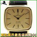 137982【中古】【OMEGA】【オメガ】デ・ビル GP×革 シャンパン文字盤 電池式omega デビル レザー レディース時計