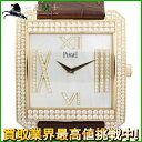 115891【送料無料】【中古】【PIAGET】【ピアジェ】スクエアウォッチ P10551 K18PG×革 ダイヤベゼル ダイヤインデックス×シェル文字盤 手巻きpiaget ラグジュアリー メンズ時計