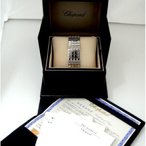 143488【送料無料】【中古】【ショパール】【CHOPARD】アイスキューブ118898-3001SS箱保付ミラー文字盤クォーツchopardレディース時計