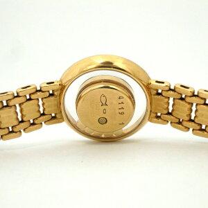 155085【送料無料】【中古】【CHOPARD】【ショパール】ハッピーダイヤモンドK18YG2重ダイヤベゼルシャパンゴールド文字盤5Pムービングダイヤ箱保付きクォーツchopardレディース時計