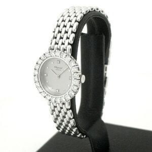153369【中古】【CHOPARD】【ショパール】レディースウォッチWGダイヤベゼルシルバー文字盤箱付きクォーツchopard純正ダイヤレディース時計