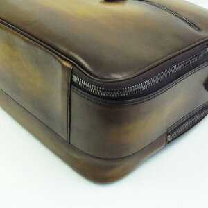 190630【送料無料】【中古】【BERLUTI】【ベルルッティ】ビジネスバッグヴェネチア・レザーブラウン(茶)berlutiブリーフケース書類鞄メンズストラップ付き