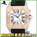 208323【中古】【Cartier】【カルティエ】サントス100 MM W20107X7 シルバー ...