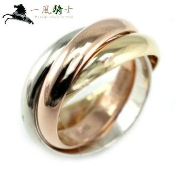 275763【送料無料】【中古】【CARTIER】【カルティエ】トリニティ リング K18YG×K18WG×K18PG ♯52cartier 12号 3カラー スリーカラーゴールド 750 指輪 ブランドジュエリー