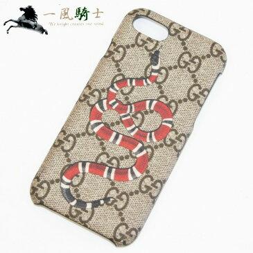 284347【中古】【GUCCI】【グッチ】iPhone8用ケース GGスプリーム キングスネーク PVC ベージュgucci アイフォンケース モバイル携帯ケース