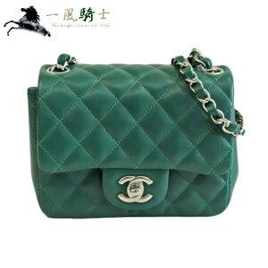 357495 [Used] [CHANEL] [Chanel] Chain Shoulder Mini Matrasse Lambskin Green chanel Diagonal Shoulder Bag