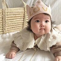 【即納】babyLOVEニット王冠ブルーピンクレッドキッズ韓国子供服男の子女の子コットン