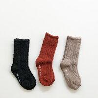 【即納】ゆる編みソックスベビー男の子女の子韓国子供服キッズコットン100%滑り止め付き靴下11cm12cm13cm14cm15cm16cm17cm