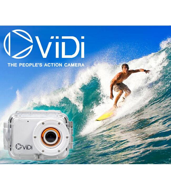 ViDi Camera 超扱いやすい プロ級の撮影が可能となる アクションカメラ ヴィディ カメラ 防水 ホワイト 4GB SDカード付き 【メール便不可】