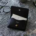Ense(アンサ)cardcase/カードケースヌメ革名刺入れブラック送料無料