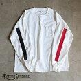 【KaptainSunshine】WestCoastLongSleevesT-shirtロングスリーブポケットTシャツキャプテンサンシャインホワイトベースブラック&レッドラインWhite/Black/RedポケT日本製