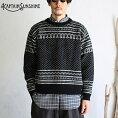 【KaptainSunshine】SnowyPatternedSweaterスノウィーパターンセータースノージャガードニットキャプテンサンシャインシェットランドウールカシミア日本製