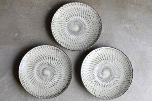 小鹿田焼き(おんたやき) 飛び鉋模様 8寸皿(直径約24cm)坂本工窯