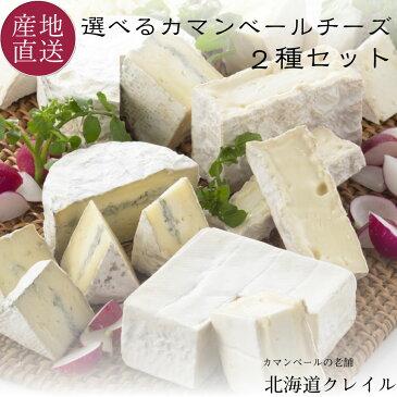 北海道カマンベールチーズの老舗 選べる生カマンベールチーズ2種セット (カレ・ロワレ・おいこみブルー) チーズ ギフト お返し 【送料無料】