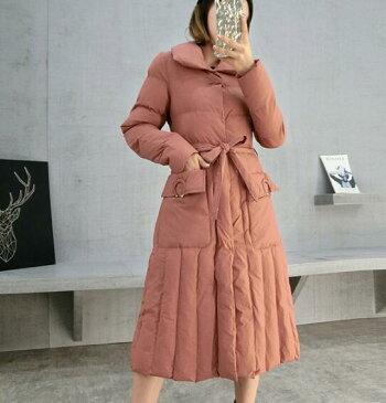 【IRIS】中綿コート レディース Aライン ベルト ロング丈 綿入り服 カジュアル 冬コート カジュアル 防寒