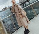 【IRIS】超ロングコート ロングコート レディース ピーコート 女性...