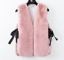【IRIS】ファーベストレディース春秋女っぽい防寒ボリュームファー女性服