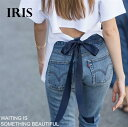 【IRIS】Tシャツレディース半袖ショート丈クルーネック春Tシャツ春夏無地ホワイトTリボン付きカジュアルS/M/L/XL/XXLトップスレディース