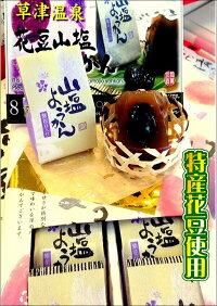 お土産特産品【送料込み】花豆山塩ようかん。丸ごと花豆入り甘さを抑えた一口羊羹さっぱりとした味わい!