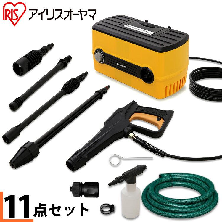 高圧洗浄機 家庭用 手動 FBN-604 【イエロー】( 洗車 ベランダ 掃除/アイリスオーヤマ)