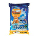 猫砂 1週間取り替えいらずネコトイレ専用 脱臭サンド 6L×5袋セット アイリスオーヤマ シリカゲル 脱臭 抗菌 その1