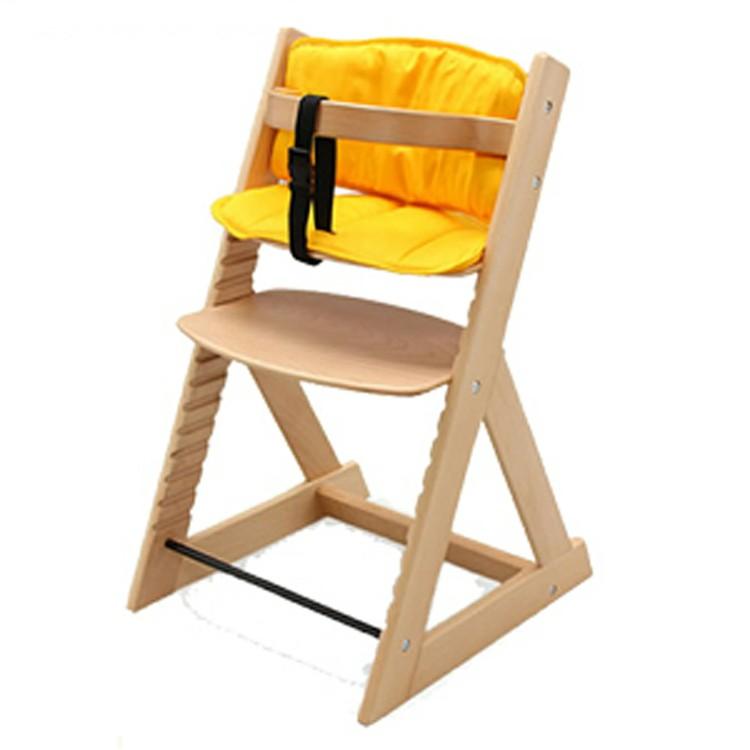 木製ハイチェア+クッションセット 送料無料 ベビーチェア キッズチェア 木製 ハイチェア チェア 赤ちゃん 椅子 全6種【D】