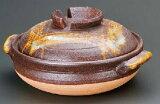 鉄赤格子 10号鍋信楽焼 陶器 キッチン 調理器具 土鍋 料亭 旅館 和食器 飲食店 業務用彩り屋
