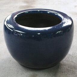 生子火鉢 15号信楽焼 伝統の火鉢 生子 深みのある青 陶器彩り屋