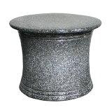 黒マット トチリ花台信楽焼 陶器 ガーデニング 花台 アウトドア 彩り屋