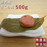 梅干し 無添加 無農薬 桜梅 南高梅 さくら梅 500g 熊野のご褒美 無化学肥料 紀州産 梅干 送料無料 はちみつ漬 包装してお届けします。 彩り屋