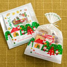 少量 少 枚 クリスマス ミニサンタ OPP ギフトバッグ OPP袋 透明袋 ラッピング袋 ラッピングバッグ ポリ袋 クリアバッグ ビニールバッグ ビニール袋 柄 デザイン 透明 平袋 ギフト袋 ギフトバッグ マチ無 ホームメイド ハンドメイド プレゼント ギフト ラッピング 袋
