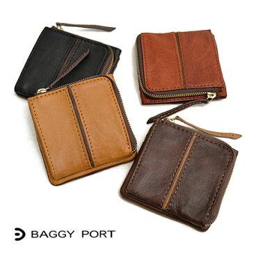 バギーポート BAGGYPORT フルクロームワックス バイカラー ミニ財布 カードケース コインケース メンズ HRD-406