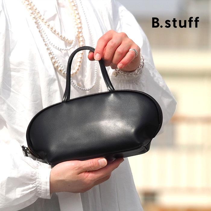 【1年保証】 ビースタッフ ハンドバッグ S B.stuff 黒 レディース レザー 日本製 Bstuff ミニバッグ パーティーバッグ フォーマルバッグ 冠婚葬祭 小さめ 1884B
