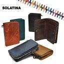ソラチナ SOLATINA オイルレザー 馬革 財布 二つ折り メンズ レディース 本革 スリム riri社製ジッパー SW-38151