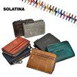 ソラチナ [ SOLATINA ] オイルレザー 馬革 コインケース カードケース L字ファスナー メンズ レディース 本革 riri社製ジッパー SW-38156