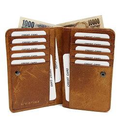 ソラチナ[SOLATINA]オイルレザー馬革二つ折り財布SW-38151