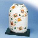 木台付7号花瓶 色石畳 九谷焼フラワーベースクラフトデザイナー原子衛作