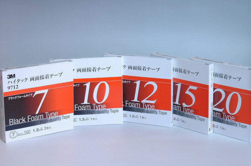 接着・補修用品, 粘着テープ 3M 9712 (1.2mm) 7mm 10m 2
